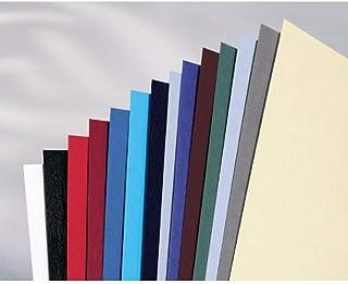GBC LeatherGrain Pack de 100 Plats de Couverture 250 g/m2 Gris Foncé