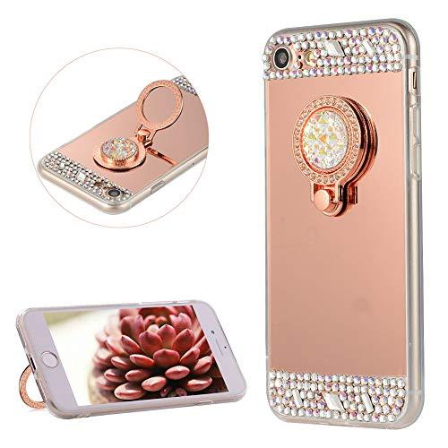 DasKAn Diamante de imitación Espejo Caso para iPhone 7/8 4.7'', con Soporte...