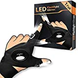 LED Flashlight Gloves 1 Pair, Men's Gifts for Dad Father, Light Gloves for Fishing Camping Repairing, LED Gloves Unique Cool Gadget Tool Gifts for Men Dad Guys Christmas Gifts Stocking Stuffers