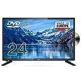 Cello C2420FSDE 24' (61 cm Diagonale) HD Ready LED Digital TV mit DVBT2 S2 Triple Tuner und intergiertem DVD Player