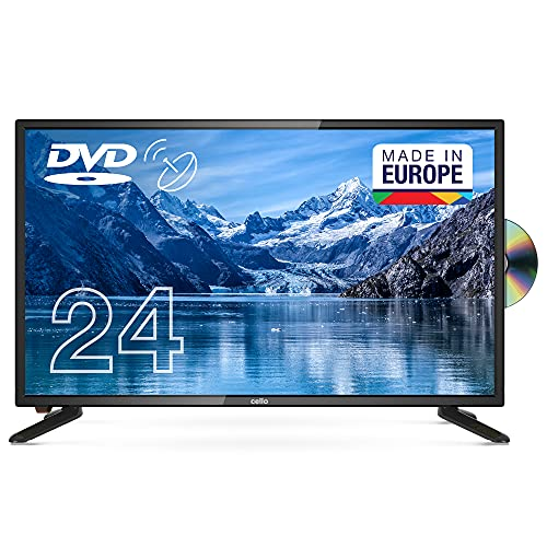 """Cello C2420FSDE 24"""" (61 cm Diagonale) HD Ready LED Digital TV mit DVBT2 S2 Triple Tuner und intergiertem DVD Player"""