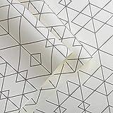 Viento nórdico Papel Tapiz rombo patrón geométrico Moderno Papel Pintado Minimalista Plaid Sala de Estar Dormitorio TV Fondo Pared (Color : Black and White)