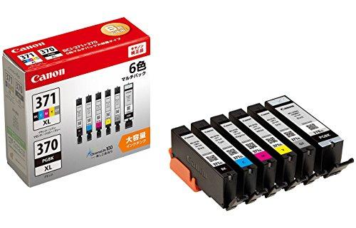 Canon 純正 インクカートリッジ BCI-371XL(BK/C/M/Y/GY)+370XL 6色マルチパック 大容量タイプ BCI-371XL+37...