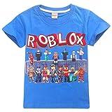 Camiseta Roblox de algodón transpirable para juegos en familia, juegos en equipo para niños y niñas, parte superior de pijama Azul3. 11-12 Años