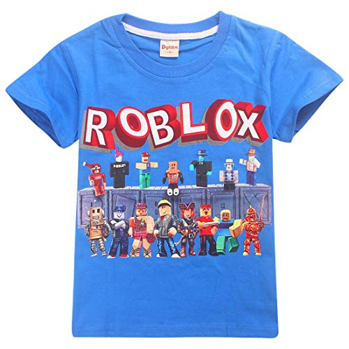 Camiseta Roblox de algodón transpirable para juegos en familia, juegos en equipo para niños y niñas, parte superior de pijama Azul3. 5-6 Años