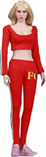 Phicen 1/6 Female Sportswear Suit for Large Medium Bust Phicen Hottoy Female Body (Red)