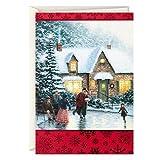 Hallmark Thomas Kinkade Boxed Christmas Cards, Ice Skating (40 Cards and Envelopes)