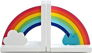 Bokändar moderna bokstöd, heminredning bokstöd, barn regnbåge dekorativa bokstöd, för Bookrack skrivbordsgåvor barn bokstö...