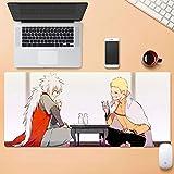 Dmsbzd Superficie de Desgaste de Naruto Uzumaki Naruto Jiraiya Alfombrilla de ratón Animado Protección Personalizar Duradero Grande Ministerio del Interior Alfombrilla de ratón 900 * 400mm Bebida