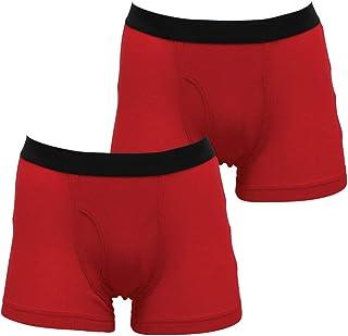 紳士 幸運 2枚組赤ボクサーブリーフ(選べる2カラー)