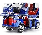 Diecast Model Coche 1:32 para Volkswagen para Teramont Modelo de automóvil Modelo de aleación Die, juguete de juguete Modelo de automóvil Seis Abrir Pull Back Children's Toy Collectibles (Color: Blanc