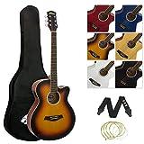 tiger acg4 chitarra elettroacustica pacchetto per principianti con sintonizzatore integrato