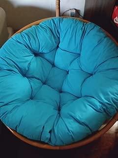 YB&GQ Egg Nest Chair Cushion, Thicken Round Basket Swing Chair Cushion Pillow Wicker Rocking Chair Pad Hanging Hammock Cushion-Sky Blue 60x60cm(24x24inch)