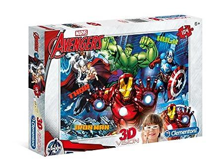 Clementoni- Marvel Avengers Los Pingüinos De Madagascar Puzzle 3D, 104 Piezas, Multicolor, Miscelanea (20606)