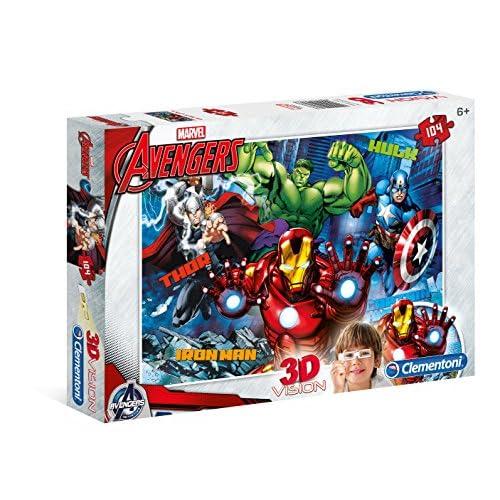 Clementoni Avengers Puzzle 3D Vision, 104 Pezzi, 20606