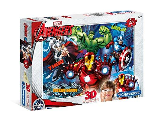 Clementoni - 20606.3 - Puzzle 3D - Avengers Assemble - 104 Pièces