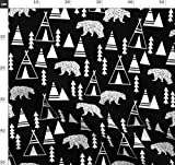 schwarz und weiß, geometrisch, Bär, Origami, Dreieck,