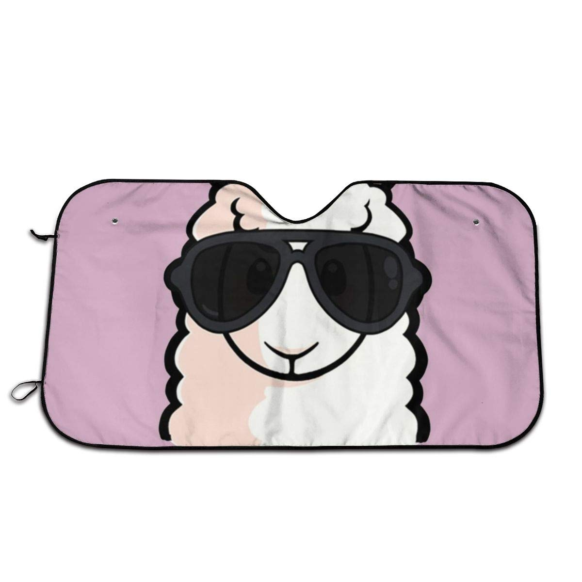 Durable Clearance SALE! Limited time! Car Sunshade A Outlet SALE Bespectacled Windshield Sun Alpaca Shade