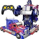 Camión De La Deformación De Un Solo Clic Robot Juguete Modelo Modelo Modelo Modelo ABS Transformers DOCT Coche Deformación Optimus Prime RC Autobots Toy Transformando Robot Control Remoto 360 °