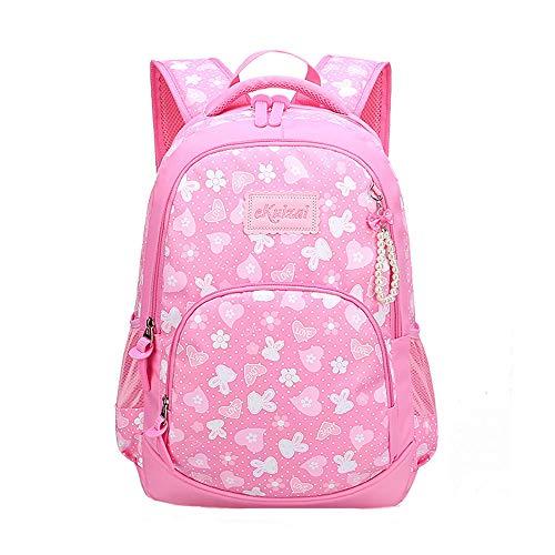 Zaino per bambini Zaino per scuola primaria Zaino per bambina 7-12 anni Borsa per laptop in nylon impermeabile 20-35L