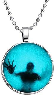 قلادة الهالوين سلسلة السترة المتوهجة في الظلام ملحقات مجوهرات للرجال والنساء