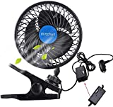 Best Car Fans - QIFUN 12V Electric Car Clip Fan, 6 Inches Review