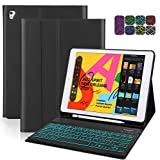 iPad Keyboard Case 9.7, Detachable Backlight keyboard with case for ipad 6th Gen