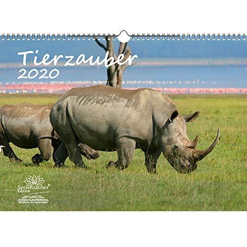 Tierzauber DIN A3 Kalender 2020 verschiedene Tiere - Seelenzauber