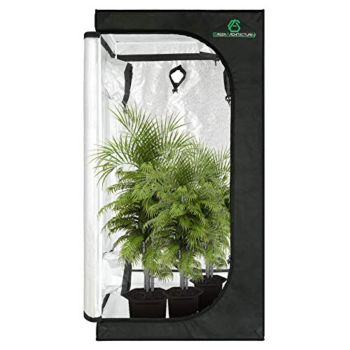 GA Grow Tent 80x80x160 CM 32''x32''x63'' Reflective Mylar Hydroponic Grow Tent with Observation Window & Tool Bag and Waterproof Floor Tray for Indoor Plant Growing.2x2 3x3 (for 2-3 Plants)