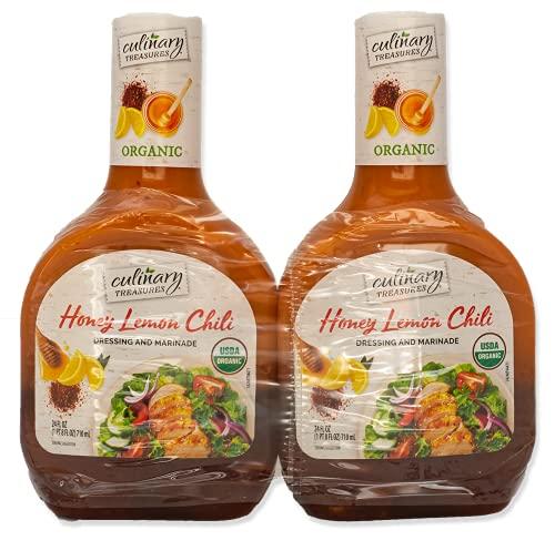 Culinary Treasures - Honey Lemon Chili Organic Dressing & Marinade (2 x 24 fl oz)