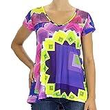Desigual Yury Camiseta, Lila 2020, 44 para Mujer