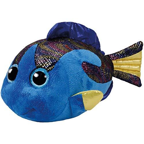 TY 37244 Fish Beanie Boo's Aqua Fisch mit Glitzeraugen, 42 cm, blau