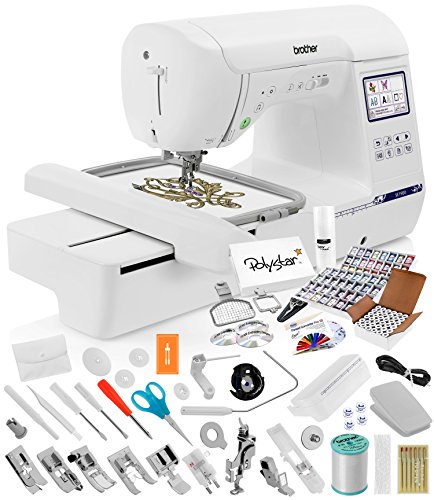 Find Cheap Brother SE1900 Sewing Embroidery Machine + Grand Slam Package Includes 64 Embroidery Thre...
