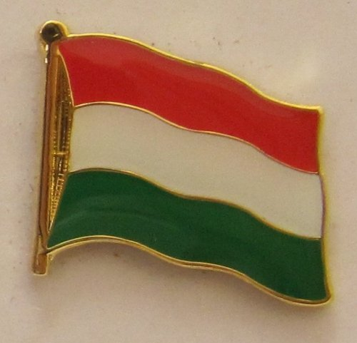 Buddel-Bini Versand Pin Anstecker Flagge Fahne Ungarn Nationalflagge Flaggenpin Badge Button Flaggen Clip Anstecknadel