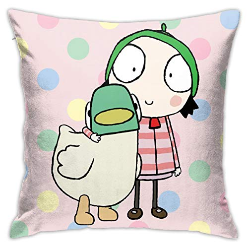 Aiiir Sarah & Duck Pillow Covers Sofa Bedroom Car Pillow Home Decoration Nap 18x18 Inch (Multicolor 9, 18 X 18 Inch)