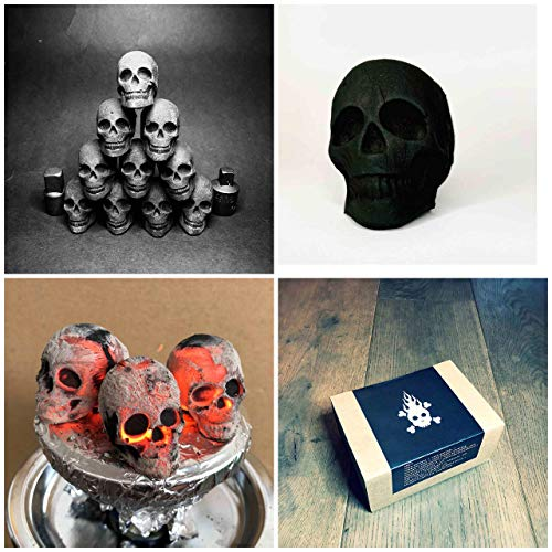 30 Shisha-Totenköpfe Kohlen, Hooka, Wasserpfeife : Skullforshisha