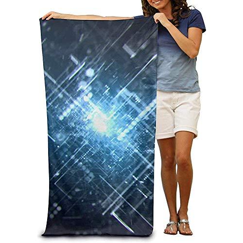 La.R Badhanddoek, 100% katoen, sneldrogend, voor strandkleed met Swimmer-technologie, 80 x 130 cm