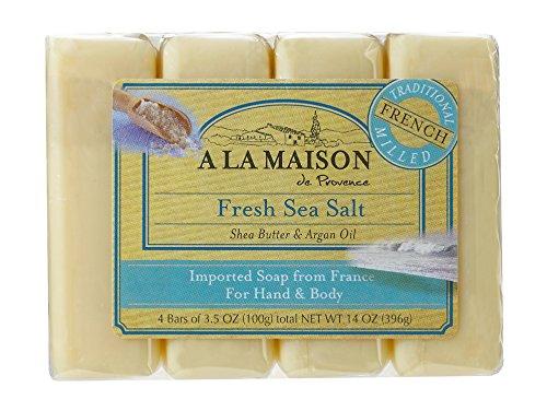 Manos y cuerpo Jabón, sal del mar frescos, 4 bares - A La Maison de Provence