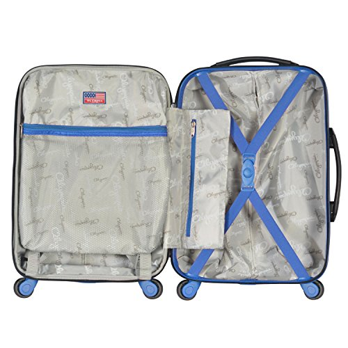 Olympia Apache Ii 21' Carry-on Spinner, BLACK+BLUE