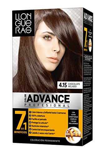 Llongueras Advance Tinte Cabello Permanente Tono #4.15
