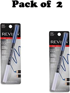 Pack of 2 Revlon Photoready Kajal Intense Eyeliner + Brightener, 002 Blue Nile