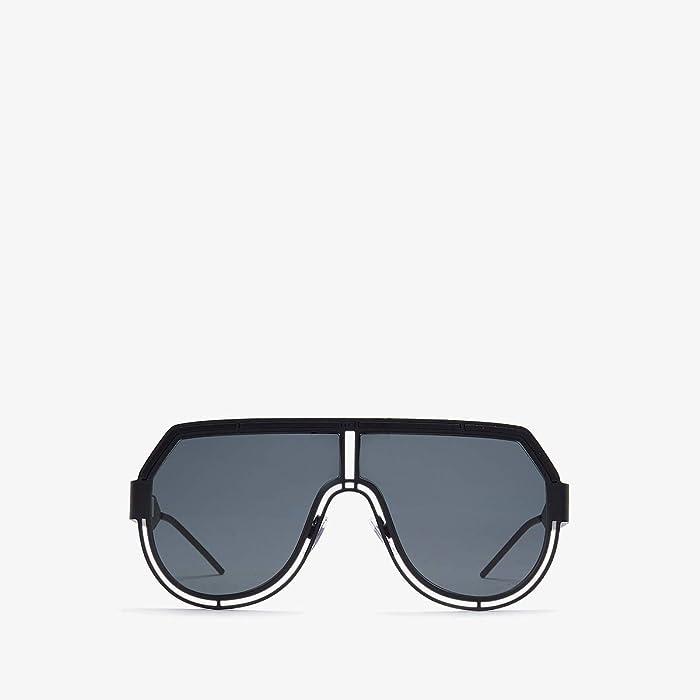 Dolce and Gabbana  DG2231 (Matte Black/Grey) Fashion Sunglasses