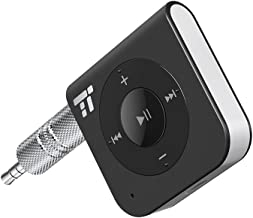 TaoTronics 15 Hour Bluetooth Receiver/Bluetooth Car Kit, TaoTronics Portable Wireless Audio Adapter 3.5mm Aux Stereo Output (Hands-Free Calling, Bluetooth 4.2, A2DP, CVC Noise Cancelling)
