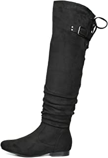 Women's Suede Over The Knee Thigh High Winter Boots