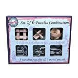 SHUYUE Metal Wire Puzzles Magic Metal Brain Teaser Puzzle Set Assembly & Disentanglement 3D Wooden Puzzles Toys Classic Educational Intelligence Toy for Adults and Kids
