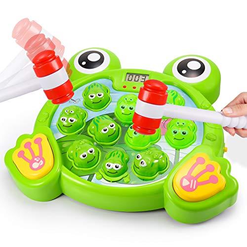 Teaisiy Spielzeug 1-6 Jahr, FroschSpielzeug Hammerspiel für Kinder ab 3-8 Jahre Weihnachts Geschenke für Kinder ab 3-8 Jahre Motorikspielzeug 3 Jahr lernspielzeug ab 1-6 Jahren Montessorispielzeug