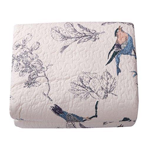Best Comforter Sets, Flying Birds Printing 3 Piece Cotton Bedspread/Quilt Sets Queen