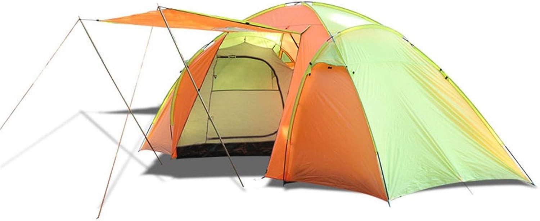 Tent Outdoor TwoBedroom OneRoom Manual Camping Tent 4 People Waterproof AntiMosquito Tourist Camping Tent