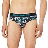 Emporio Armani Underwear Brief Camouflage Calzoncillos, Black Camou + Eagles, L para Hombre