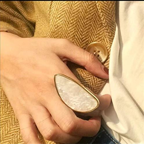 Conjunto de Joyas Mujer Anillo y Pendientes baño Dorado y Piedra Nacar Regalos para Ella diseño Exclusivo de Gran tamaño y Ligero Regalo San Valentin Estilo uno de 50 Tous Pandora